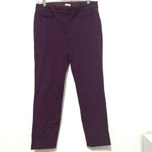 J Crew Lexie Pant 8S Stretch Bottom Skinny Purple